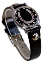 Horseshoe Ball Marker Bracelet with Black Band