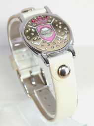Pink Shield Ball Marker Bracelet with Ivory Band