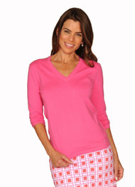 Golftini Hot Pink V Neck Sweater