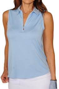 Golftini Light Blue Sleeveless Tech Polo
