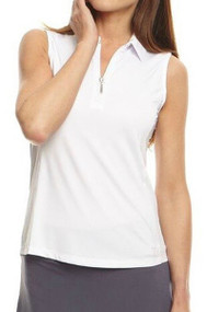 Golftini White Sleeveless Tech Polo (NEW!)