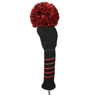 Just4Golf Solid Black Driver Cover with Red Trim