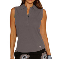 Golftini Classic Grey Sleeveless Polo