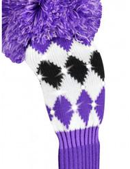 Just4Golf Sparkle Purple Argyle Fairway Cover