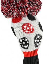 Just4Golf Sparkle Red & Black Dot Driver Cover