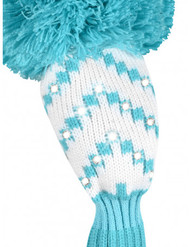 Just4Golf Sparkle Turquoise Chevron Hybrid Cover