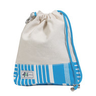 A&L Ticking Stripe Golf Ditty Bag