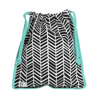 A&L Black Shutters Drawstring Shoe Bag
