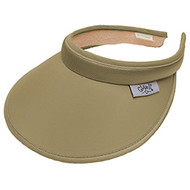 Glove It Solid Khaki Clip On Ladies Visor