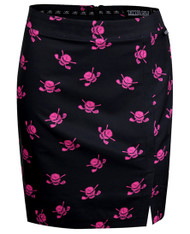 Tattoo Golf Pink Skull Golf Skort