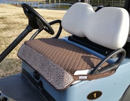 Quilted Brown Leopard Cart Seat Cover