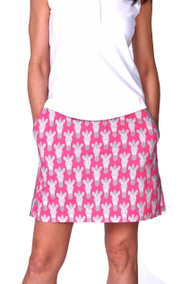 Golftini Animal Print Zebra Stretch Cotton Golf Skort
