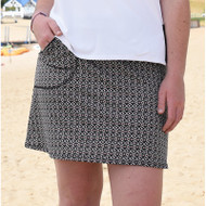 FestaSports Red Black Ikat Dot Golf Skort