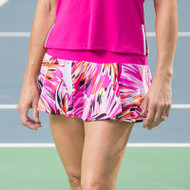 FestaSports Paintbrush Pink with Fuchsia Flounce Tennis Skort
