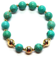Sporty Chic Turquoise Tennis Bracelet