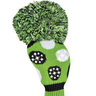 Just4Golf Sparkle Green Polka Dot Driver Cover