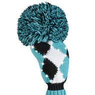 Just4Golf Sparkle Turquoise Argyle Fairway Cover (New!)