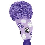 Just4Golf Sparkle Purple Polka Dot Fairway Cover