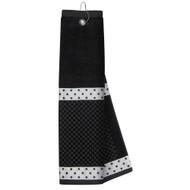 Just4Golf Black & White Ribbon Golf Towel