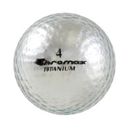 Chromax Metallic Silver Golf Balls - Pack of 6 Golf Balls