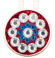 Blingo Red Solheim Cup Ladies Golf Ball Marker