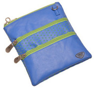 Glove It Blue Green Perf 3 Zip Golf Accessory Bag