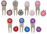 Blingo Ladies Golf Crystal Divot Tool + Ball Marker Set