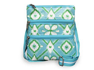 All For Color Ikat Bliss 3 Zip Accessory Bag
