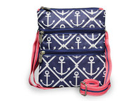 All For Color Classic Anchor 3 Zip Accessory Bag