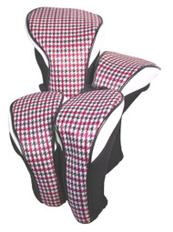 Hunter Golf Pink Houndstooth Women's Headcover Set