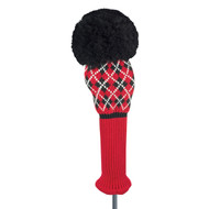 Just4Golf Red Argyle Driver Cover