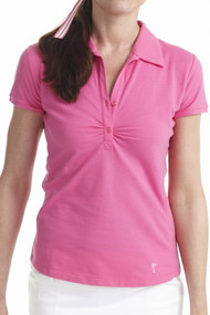 Golftini Hot Pink Short Sleeve Button Polo