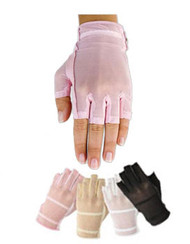 HJ Glove Solaire Tan Thru Half Finger Ladies Golf Glove - 4 Colors Available