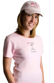 Pink Diva Golf Bling Par Tee Pink Ladies Golf Shirt