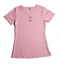 Pink Diva Golf Bling Golfer Girl Pink Ladies Golf Shirt