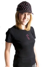 Pink Diva Golf Bling Golfer Girl Black Ladies Golf Shirt