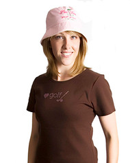 Pink Diva Golf Bling Love Golf Brown Ladies Golf Shirt