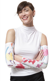 Day Lilly Print Sun Sleeves