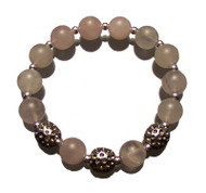 Sporty Chic Rose Quartz Golf Bracelet