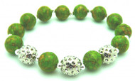 Sporty Chic Turquoise Golf Bracelet