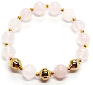 Sporty Chic Pink Quartz Tennis Bracelet