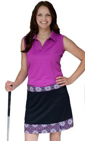 GolfHer Royal Round Golf Skort with SPF 35