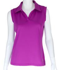 GolfHer Purple Sleeveless Golf Shirt with SPF 35