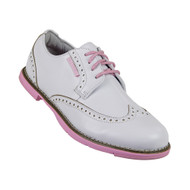 True Linkswear Dame Women's Golf Shoes - Pink and White