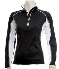 Glen Echo Black Ladies Half Zip Pullover