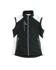 Glen Echo Black Ladies Stretch Tech Water Repellent Vest