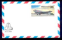 UXC24 UPSS# SA23 36c DC-3 Mint Postal Card