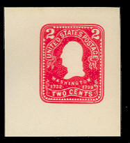 U395 2c Carmine on White, Mint Cut Square