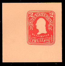 U397 2c Carmine on Oriental Bull, Mint Full Corner