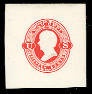 UO41 15c Vermillion on White, Mint Full Corner, 43 x 44